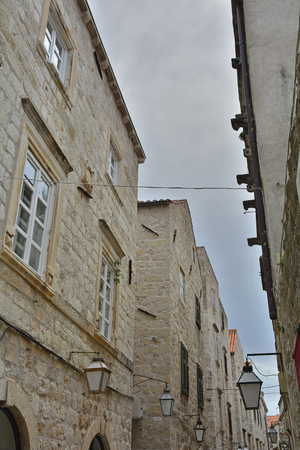 neretva: An old historic road in Dubrovnik Old Town.