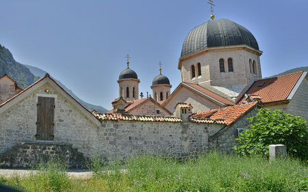 saint nicholas: A back view of the Russian Orthodox Church of Saint Nicholas in Kotor, Montenegro. Stock Photo