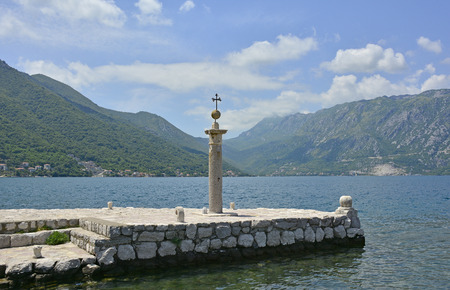 waterscapes: The Our Lady of the Rock island in Kotor Bay, Montenegro. The island was artificially created by locals using rocks.