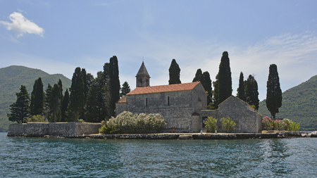 12th century: The tiny St Georges Island in Kotor Bay, Montenegro, also known as the Island of the Dead. The island contains a 12th century Benedictine abbey and a cemetery.
