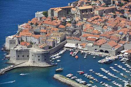 city and county building: Dubrovnik, Croatia - June 20th 2016. The historic old town of Dubrovnik on Croatias Adriatic coast.