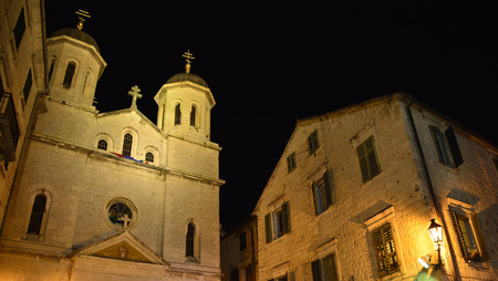 historic buildings: Historic buildings in Kotor old town, Montenegro.
