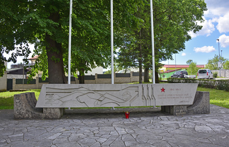 partisan: A memorial to the partisans who died during world war two in the village of Divaca in south west Littoral region of Slovenia