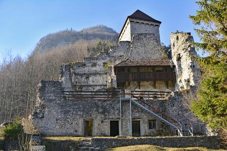 12th century: The 12th century Grad Kamen castle in Slovenia.