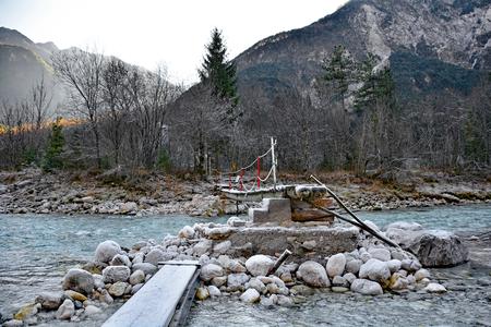 A winter landscape near Tolmezzo in Italy.