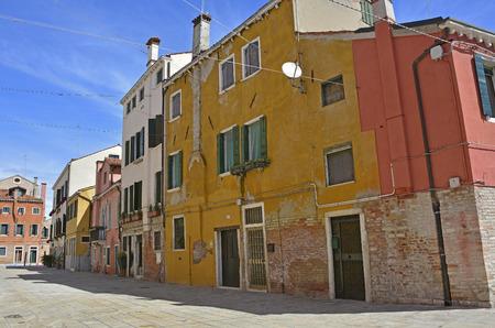 venice: A residential street in the Dorsoduro quarter of Venice