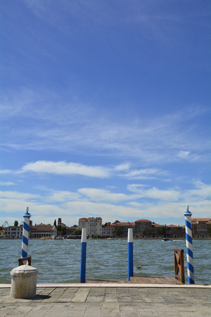 venice: The island of Giudecca in the Dorsoduro quarter of Venice, viewed from the opposite side of the Giudecca canal