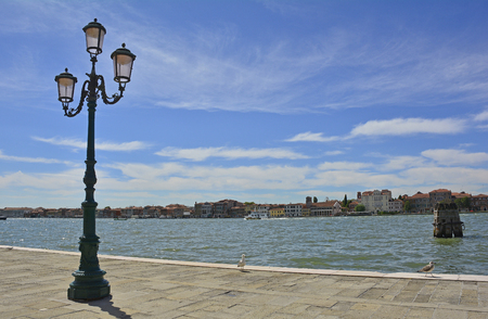 The island of Giudecca in the Dorsoduro quarter of Venice, viewed from the opposite side of the Giudecca canal