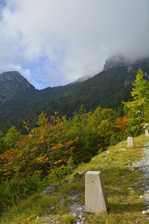 The late September slopes of Mangrt (also Mangart) in north west Slovenia