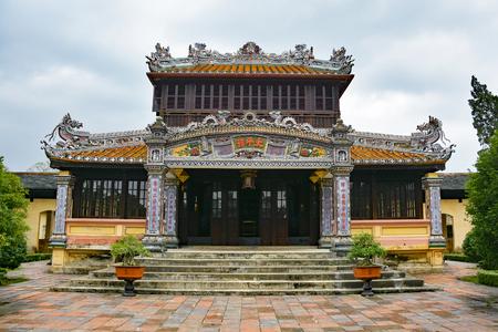 A building within the Imperial City, Hue, Vietnam
