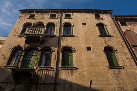 Buildings in the historic town of Vittorio Veneto in the Veneto region of north east Italy Editöryel