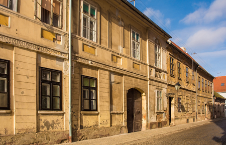 A street in Tvrda, the old town of Osijek, Osijek-Baranja County, Slavonia, east Croatia