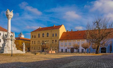 Trg Sv Trojstva square in Tvrda, the old town of Osijek, Osijek-Baranja County, Slavonia, east Croatia Stock Photo