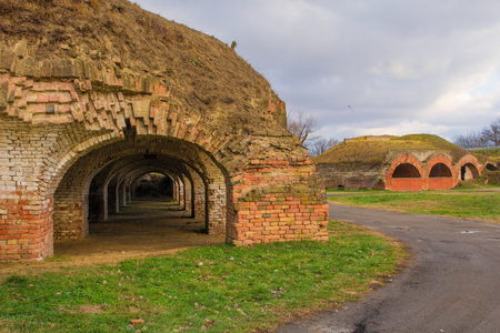 The 18th century Crown Fortress, also known as the Catacombs, in Osijek in Osijek-Baranja County, Slavonia, east Croatia Editorial