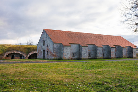 Part of the 18th century Crown Fortress, also known as the Catacombs, in Osijek in Osijek-Baranja County, Slavonia, east Croatia