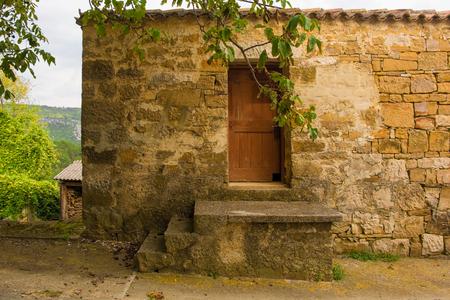 A building in the historic hill village of Ipsi near Oprtalj in Istria, Croatia
