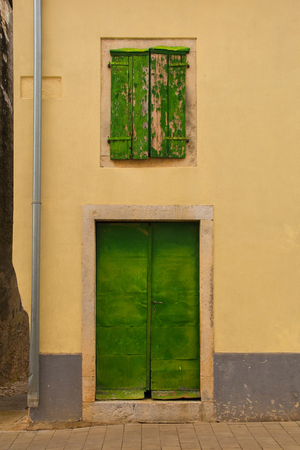 A building in the historic hill village of Bale (also called Valle) in Istria, Croatia