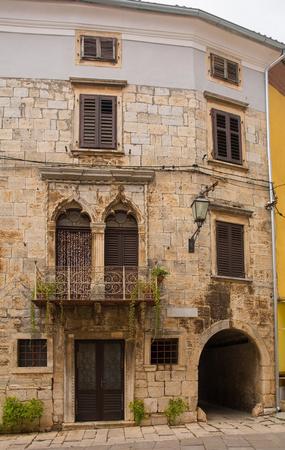 A building in the historic village of Vodnjan (also called Dignano) in Istria, Croatia