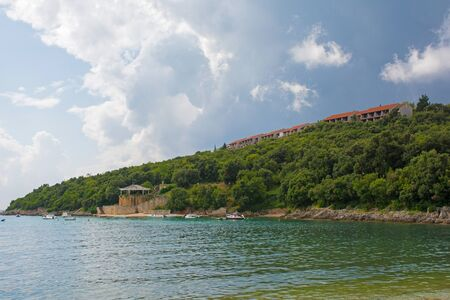 The Adriatic Sea at Duga Uvala in Istria, Croatia Imagens