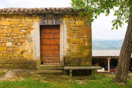 A building in the historic hill village of Ipsi near Oprtalj in Istria, Croatia Stock Photo
