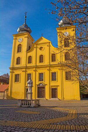 Sveti Mihael catholic church on Trg Jurja Krizanica in Tvrda, the old town of Osijek, Osijek-Baranja County, Slavonia, east Croatia