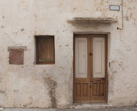 An old house in the southern Italian port town of Gallipoli Stok Fotoğraf