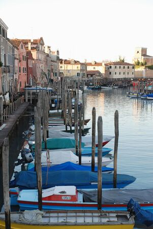 A waterfront street in Venice, Italy Imagens