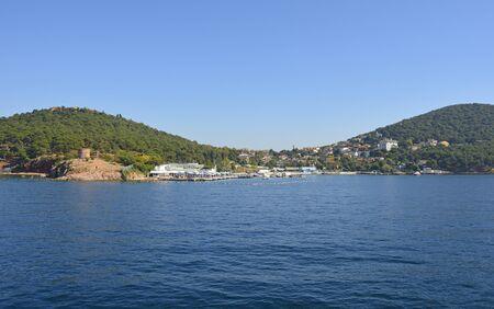 Heybeliada, one of the Princes' Islands, also called Adalar, in the Sea of Marmara off the coast of Istanbul Reklamní fotografie - 146380726