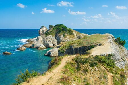 The Black Sea coast at Kilimli Bay, near Agva, Sile, in north west Turkey