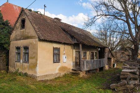 An historic building in the small village of Cigoc Village in Sisak-Moslavina County, central Croatia Stok Fotoğraf