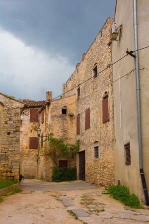 Buildings in the historic village of Vodnjan (also called Dignano) in Istria, Croatia