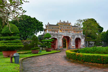 The Tho Chi Gate in the Dien Tho Residence complex in the Imperial City, Hue, Vietnam