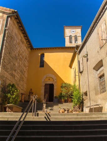 The 12th century church, Pieve di San Martino, in the historic village of Batignano, Grosseto Province, Tuscany, Italy