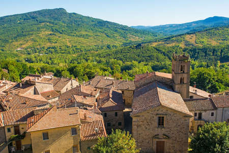 The historic medieval village of Santa Fiora in Grosseto Province, Tuscany, Italy