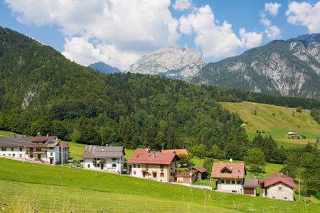 The summer landscape near Studena Alta in Udine Province, Friuli-Venezia Giulia, north east Italy