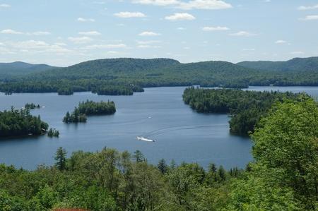 Blue Mountain Lake view from Adirondak Museum
