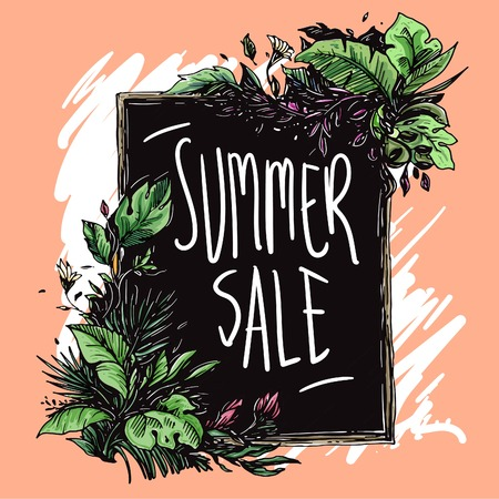 Frame floral theme for summer sale items