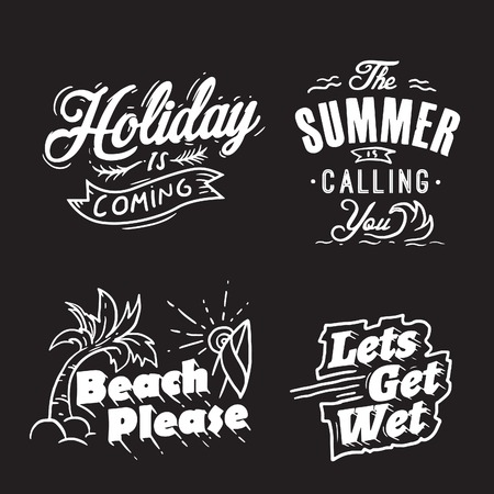 Holiday is coming, summer is calling you, beach please and lets get wet in typography way, good for any print material