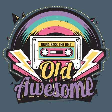 Vector Art with retro styled for vintage t-shirt prints or poster with the same theme