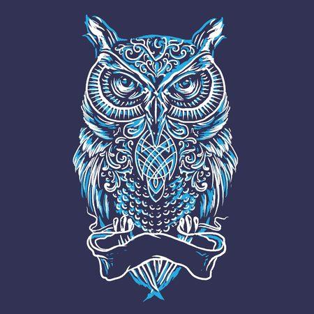 Sketch Line Art Owl Illustration Illustration