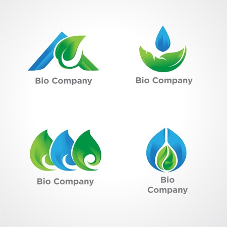 Vector-based illustration logos are recommended for companies engaged in the environment or blue green themed