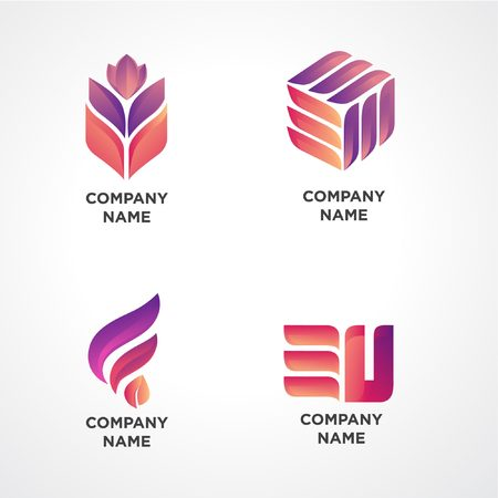 Vector-based illustration logos are recommended for companies engaged in any field, modern and dynamic
