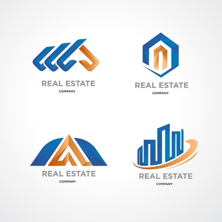 Vector illustration logo that is recommended for companies engaged in real estate property