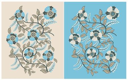 Classic Vintage Floral Pattern for Textile Prints Illustration