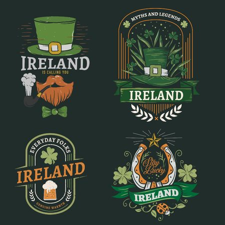 Graphic set to celebrate Saint Patrick in Ireland