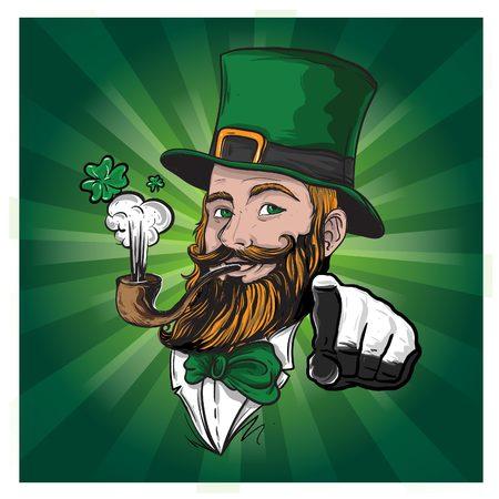 Illustration in vector file of Irish Character for Saint Patrick Celebration Stock Photo