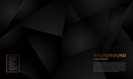 elegant modern background black and gold color scheme for corporate presentation