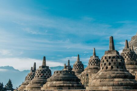 The beauty of the Borobudur Stupa is seen closer Reklamní fotografie
