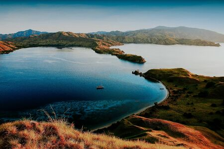 Wonderful scenic Komodo Island in the afternoon