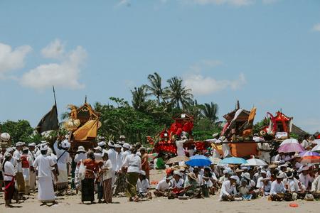 Melasti Ceremony in Lebih Beach, Gianyar Bali